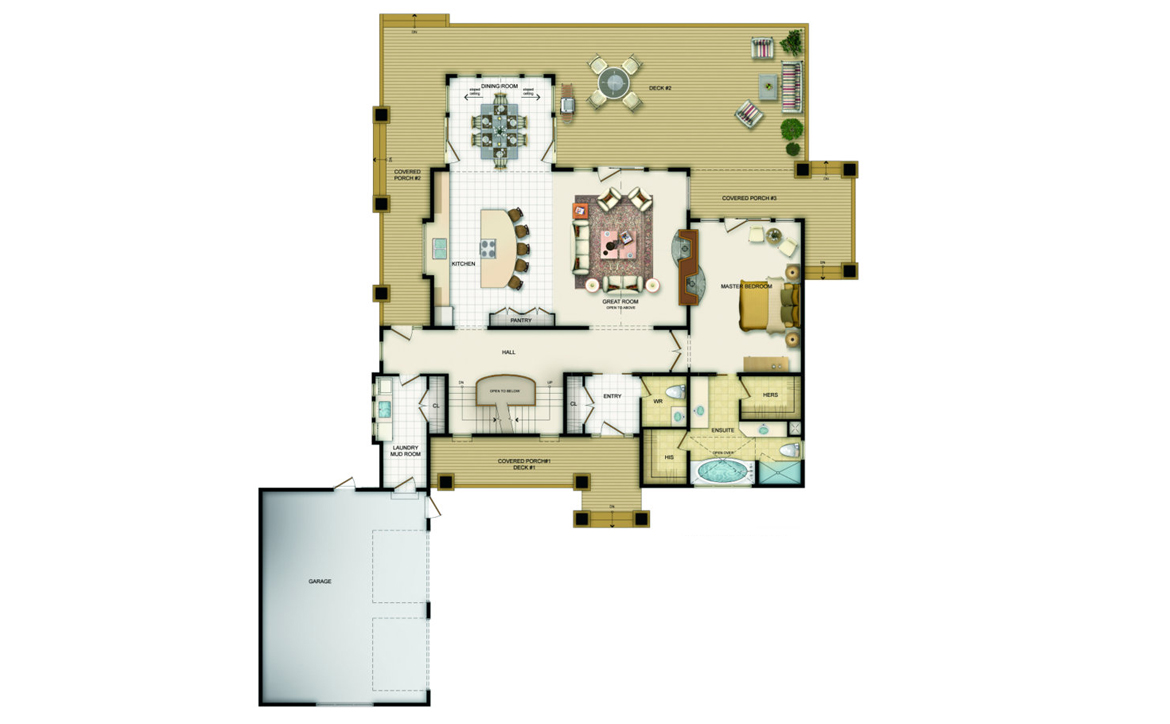 Colebrook Floor Plan - Main Level