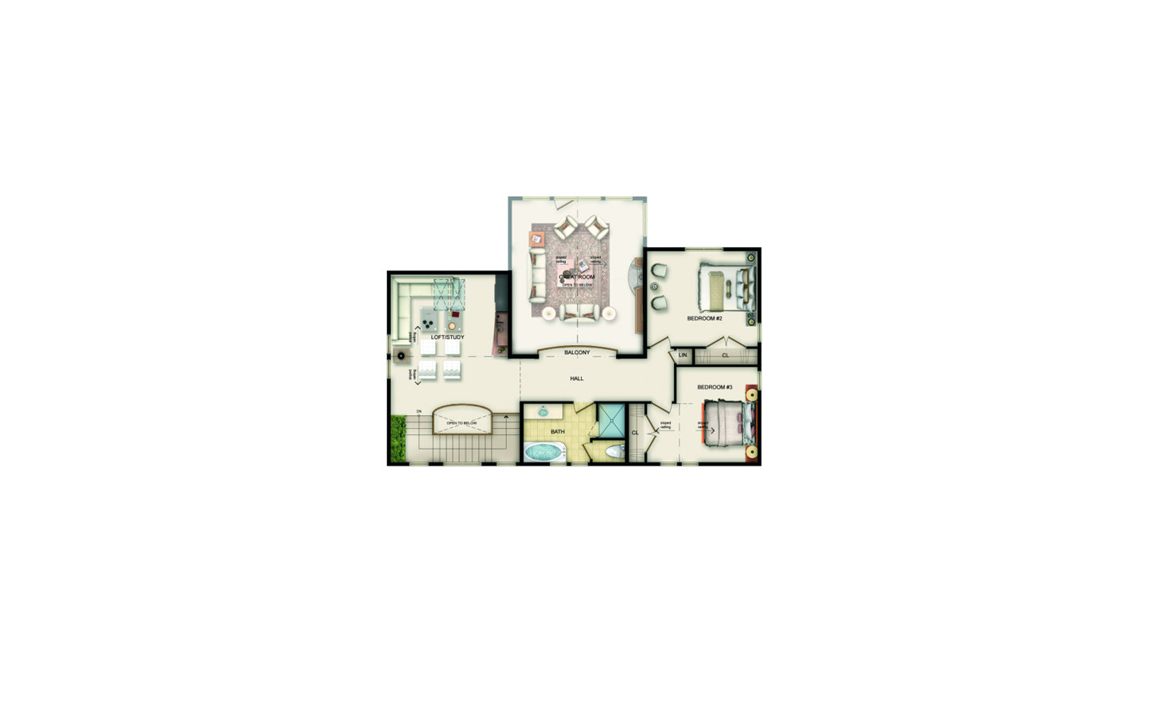 Colebrook Floor Plan - Upper Level