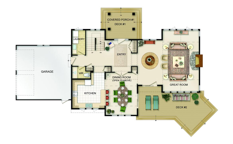 Ferncliff Floor Plan - Main Level