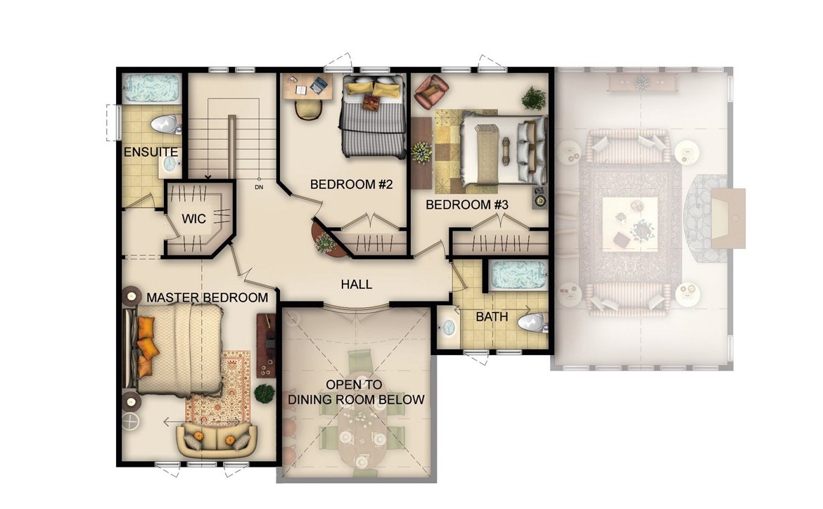 Ferncliff Floor Plan - Upper Level