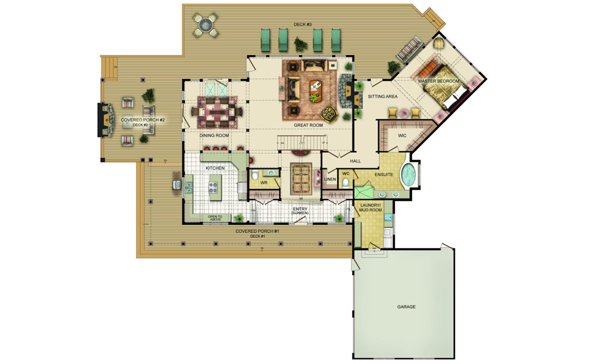 Pasadena Floor Plan - Main Level