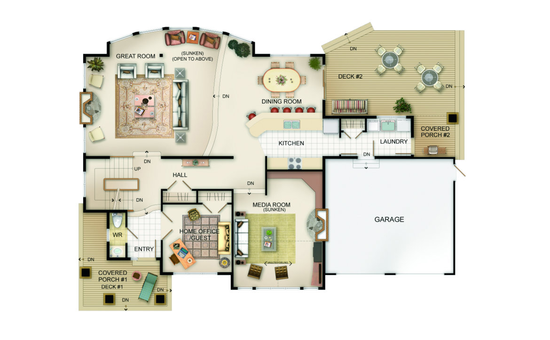 Wildwood Floor Plan - Main Level
