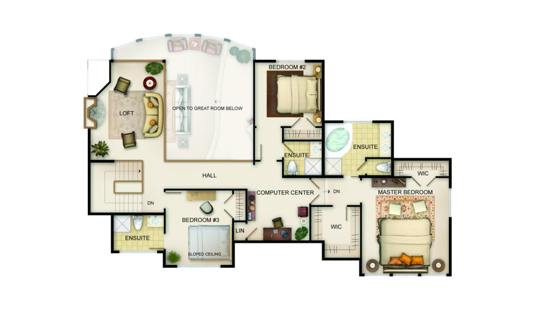Wildwood Floor Plan - Upper Level
